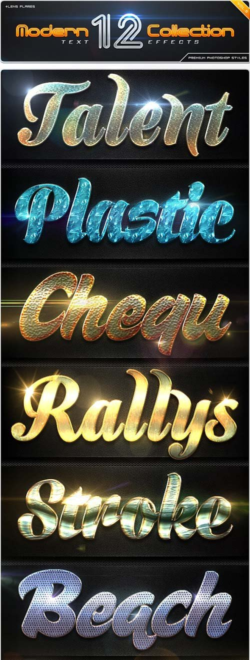 GraphicRiver 12 Modern Collection Text Effect Styles Vol.5