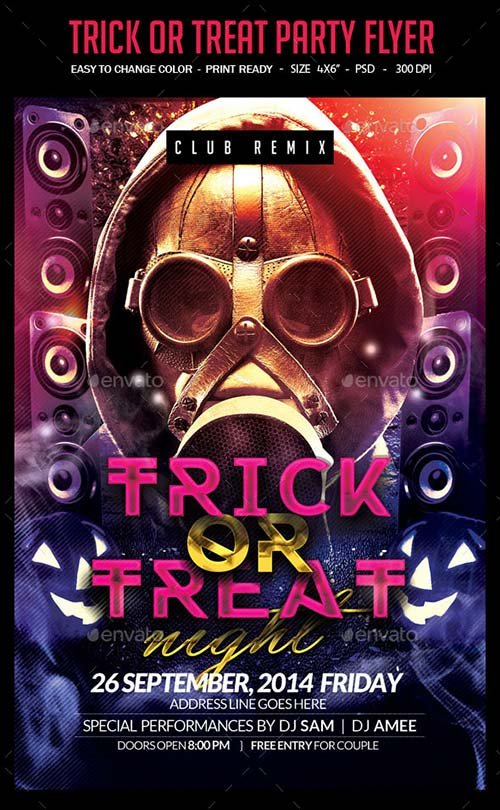 GraphicRiver Trick Or Treat Halloween Flyer