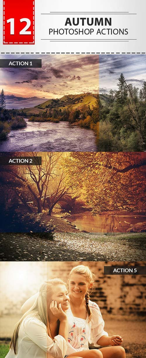GraphicRiver 12 Autumn Photoshop Actions