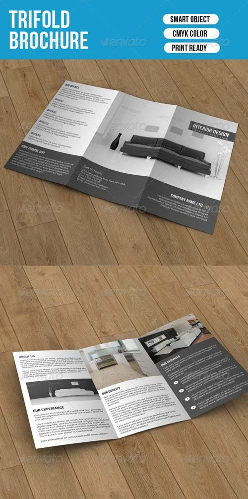 GraphicRiver Minimal Trifold-Interior Design