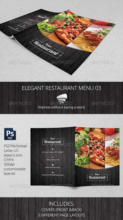 GraphicRiver Elegant Restaurant Menu 03