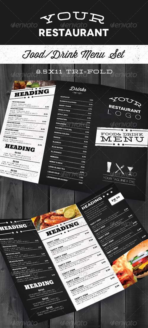 GraphicRiver Modern Restaurant Menu Set
