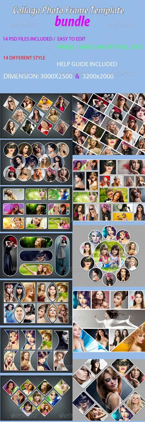 GraphicRiver Collaga Photo Frame Template bundle