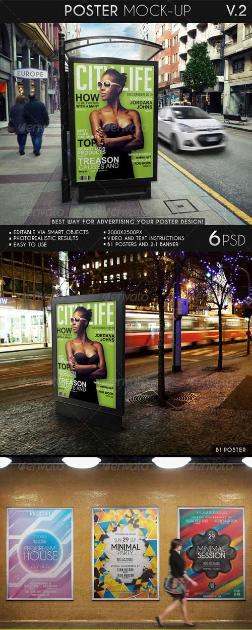 GraphicRiver Poster Mock-Up 7026878