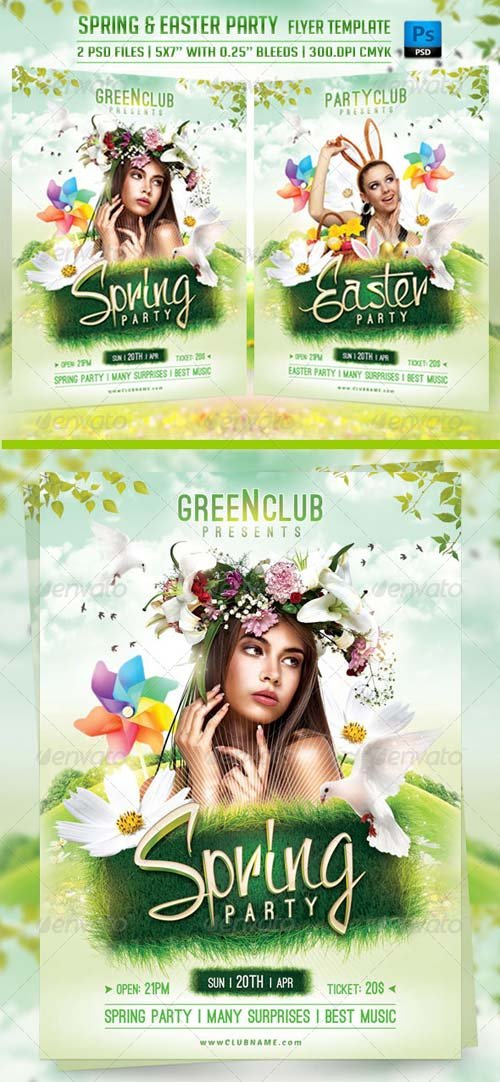 GraphicRiver Spring and Easter Flyer Template