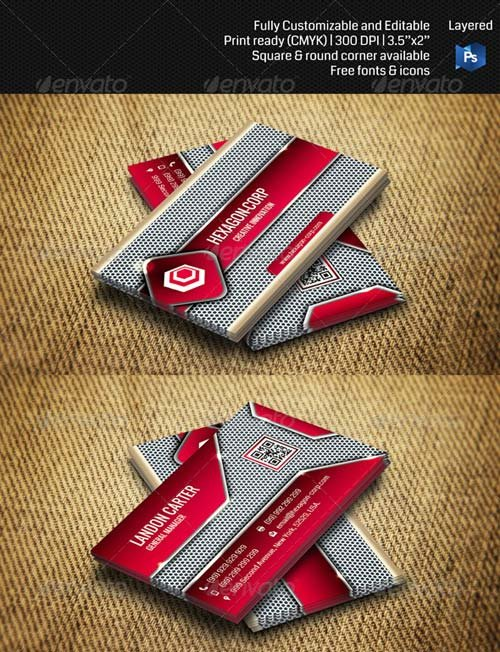 GraphicRiver Hi-tech/ Futuristic Corporate Business Card THN011