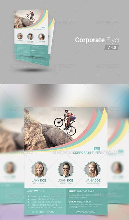 GraphicRiver Corporate Flyer Template 6949361