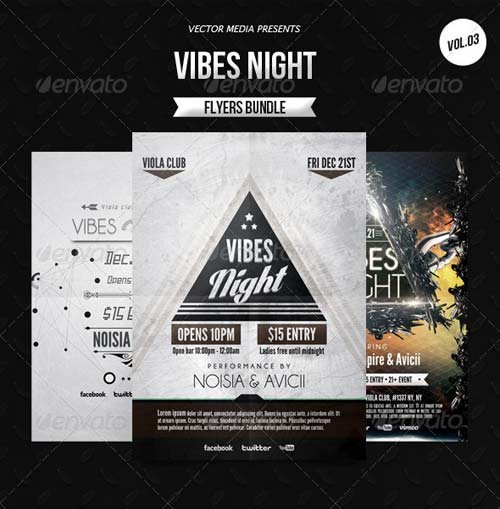 GraphicRiver Vibes Night - Flyers Bundle [Vol.3]