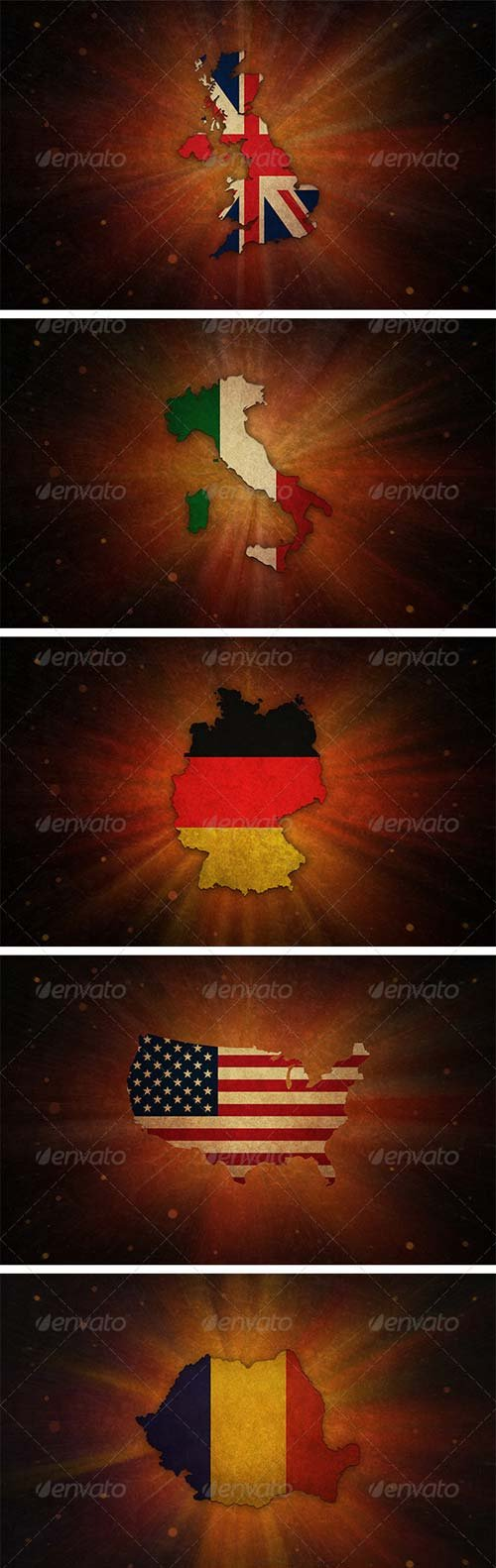 GraphicRiver 5 Countries Backgrounds