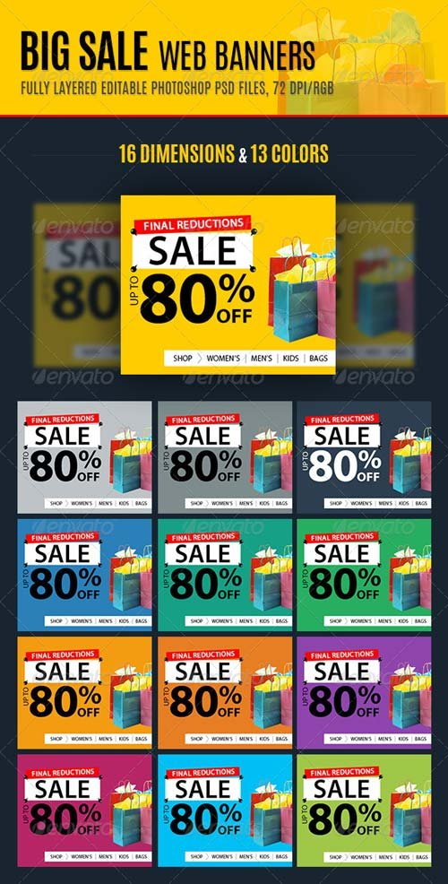 GraphicRiver Big Sale Web Banners