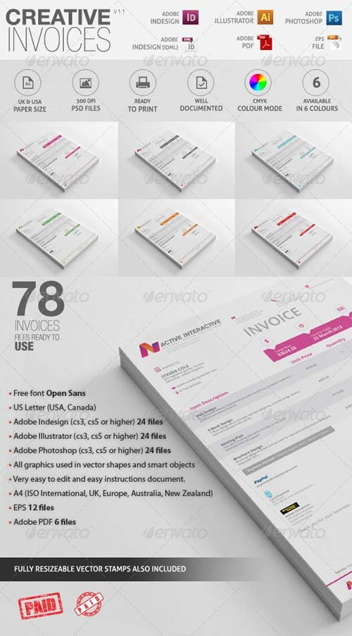 GraphicRiver Invoices