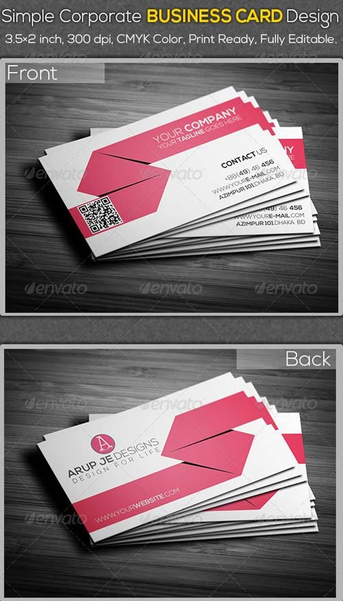 GraphicRiver Simple Corporate Business Card Design