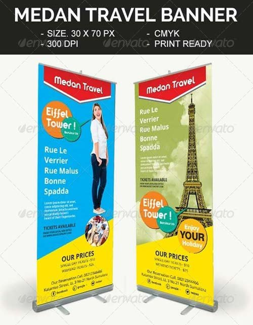 GraphicRiver Medan Travel Banner