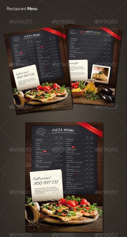 GraphicRiver Restaurant Menu Flyer