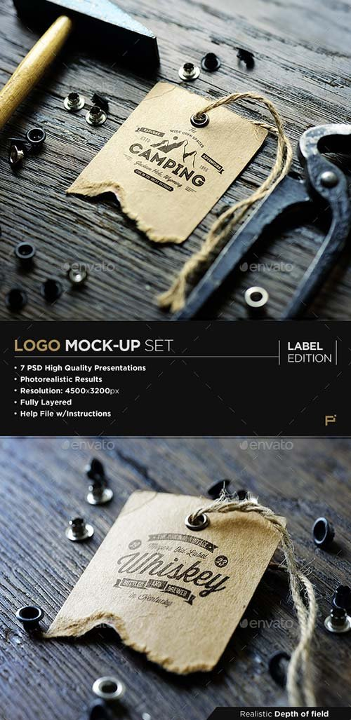 GraphicRiver Logo Mock-Up / Label Edition