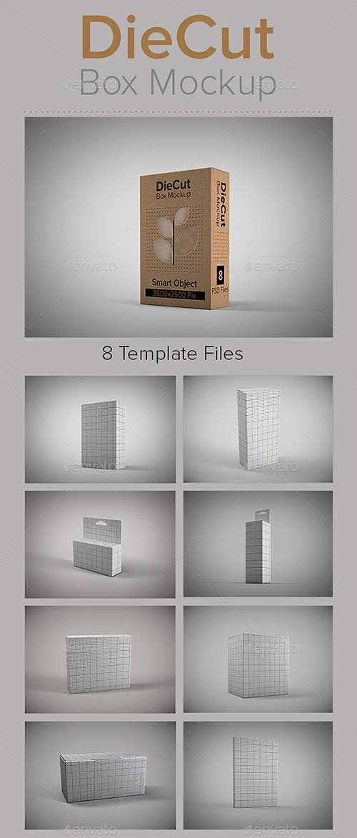 GraphicRiver DieCut Box Mockup