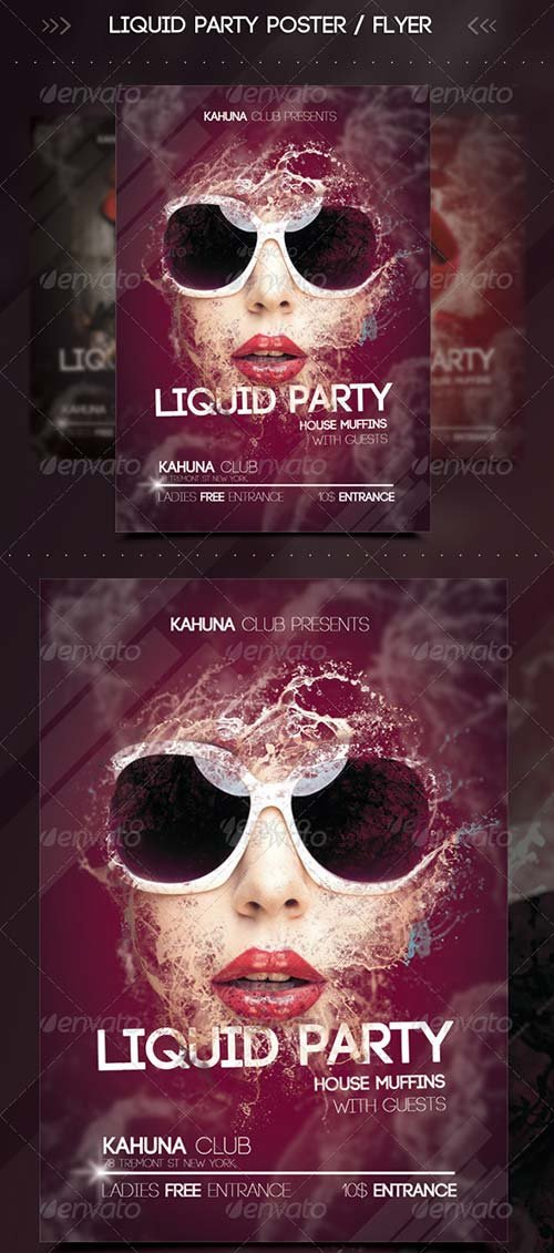 GraphicRiver Wet Liquid Party Flyer / Poster