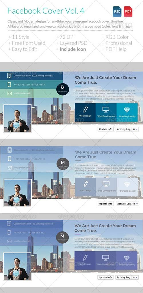 GraphicRiver Flat Corporate Facebook Timeline Vol. 2