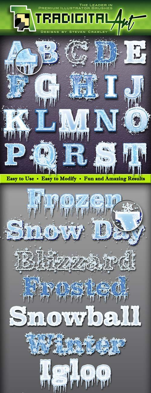 GraphicRiver Frozen Graphic Styles