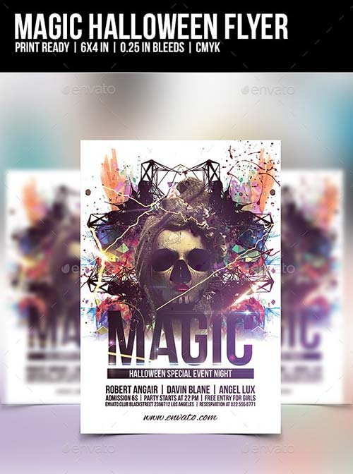 GraphicRiver Magic Halloween Flyer Template