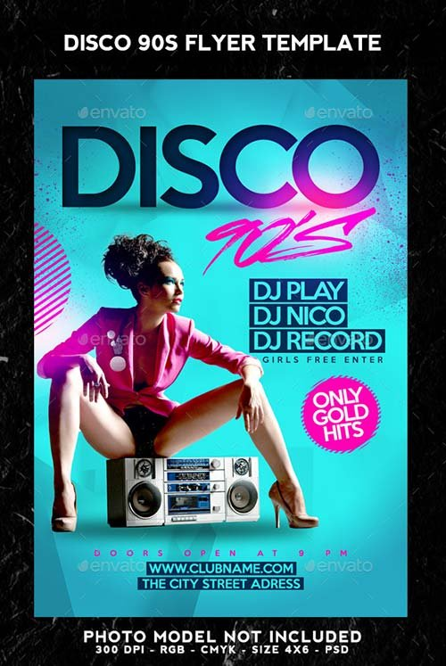 poster template 90 x 120cm - flyer templates graphicriver disco 90s flyer graphicflux