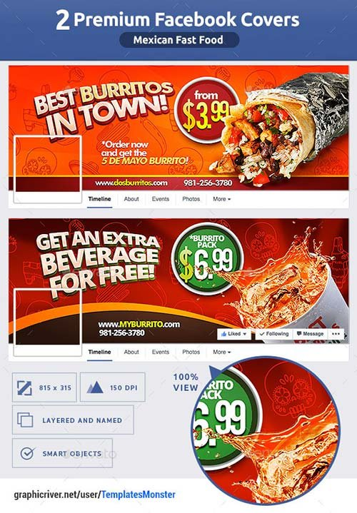 GraphicRiver Mexican Fast Food FB Cover