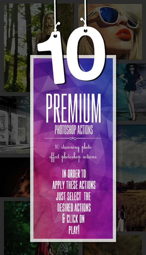 GraphicRiver 10 Premium Photoshop Actions