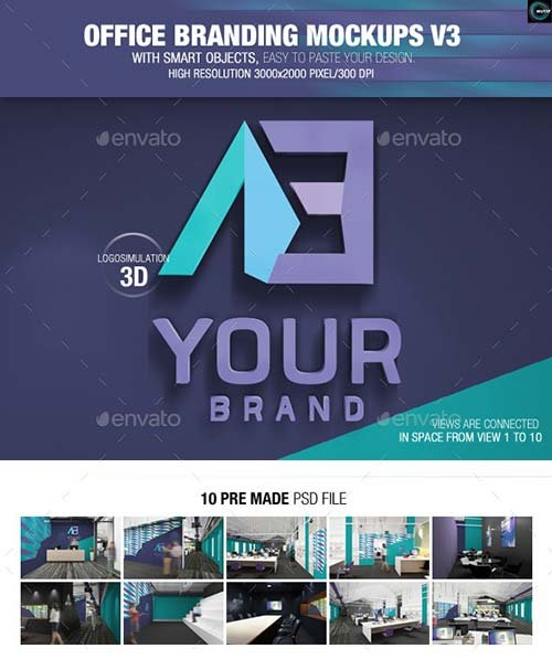 GraphicRiver Office Branding Mockups V3