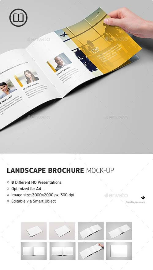 GraphicRiver Landscape Brochure / Catalog Mock-Up