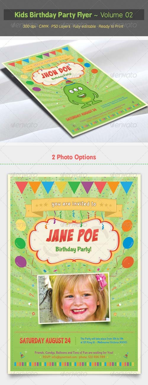 GraphicRiver Kids Birthday Party Flyer - Volume 02