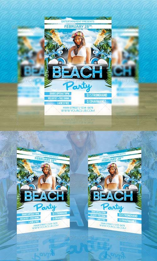 GraphicRiver Beach Party Flyer Template 6915841