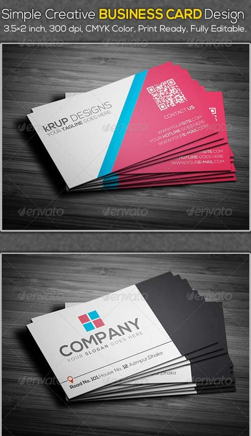GraphicRiver Simple Creative Business Card Design