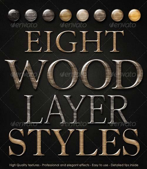 GraphicRiver Smooth Glossy Elegant Wood Layer Styles