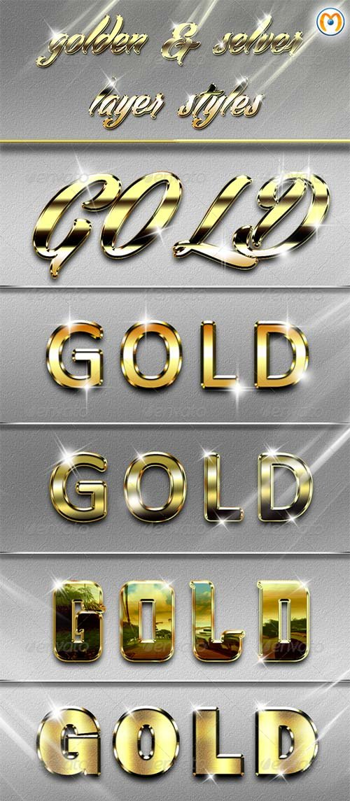 GraphicRiver Golden & Silver Layer Styles