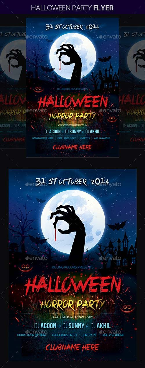 GraphicRiver Halloween Party 8956697