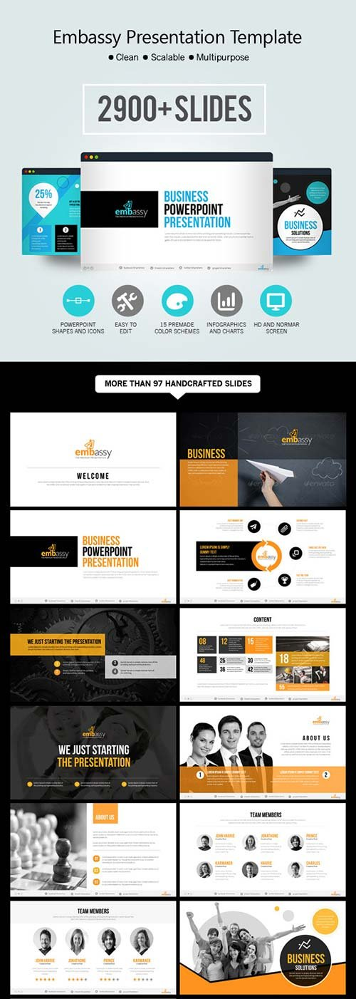GraphicRiver Embassy Powerpoint Presentation