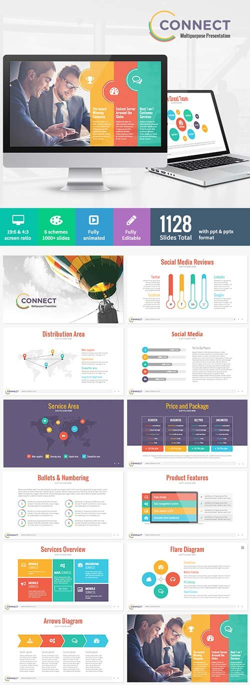 Powerpoint templates graphicriver tikal powerpoint presentation 10 graphicriver connect modern powerpoint template toneelgroepblik Image collections