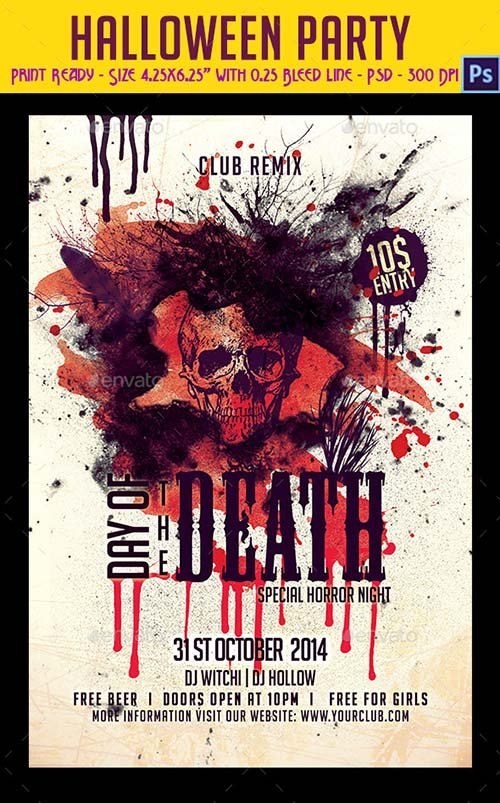 GraphicRiver Halloween Party Flyer 9194514