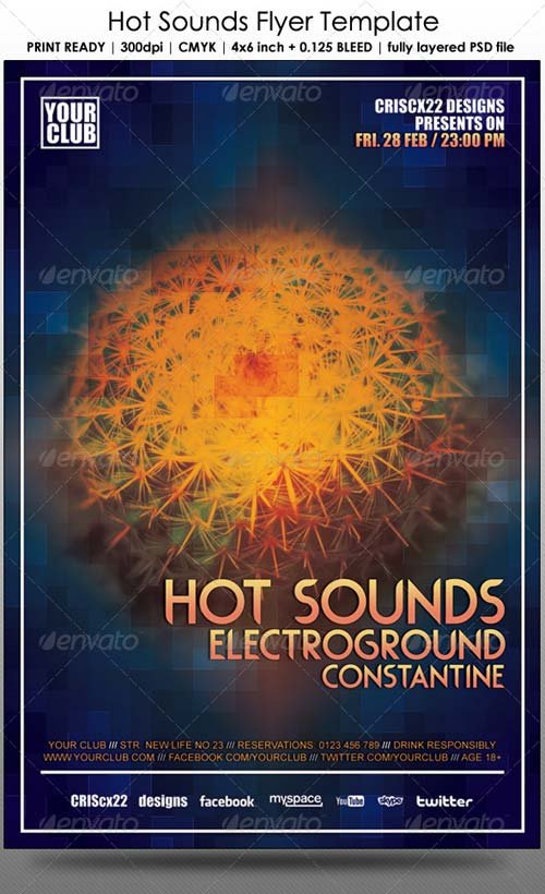 GraphicRiver Hot Sounds Flyer Template