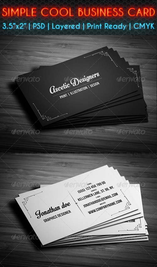 GraphicRiver Simple Cool Business Card
