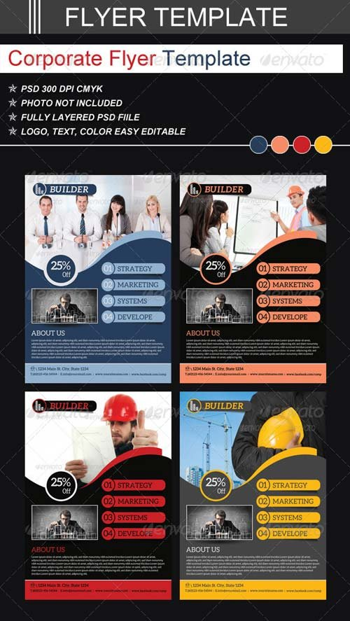 GraphicRiver Corporate Flyer Templates 6912964