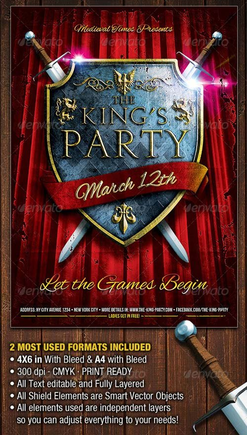 GraphicRiver The King's Party Flyer Template