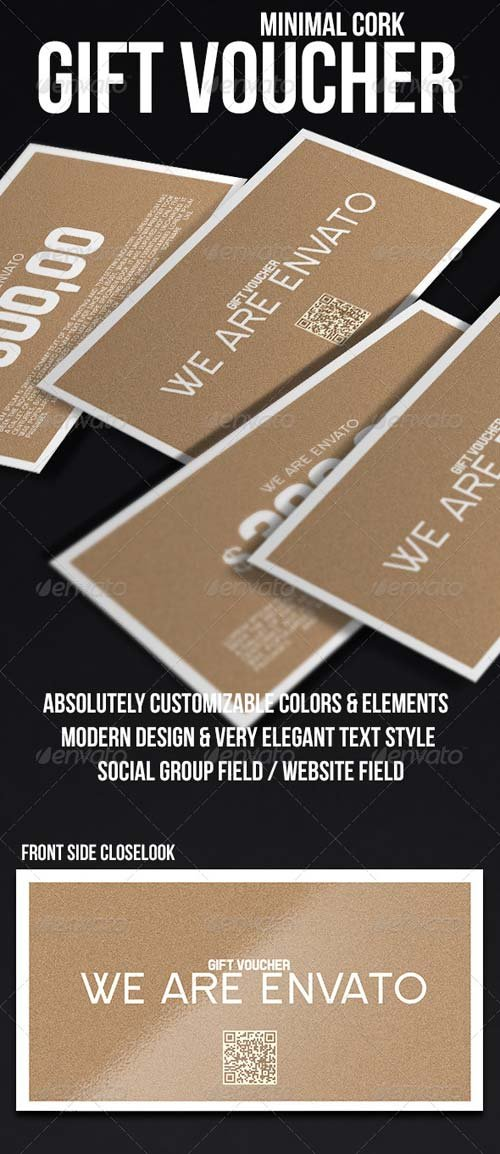 GraphicRiver Minimal Gift Voucher - Cork
