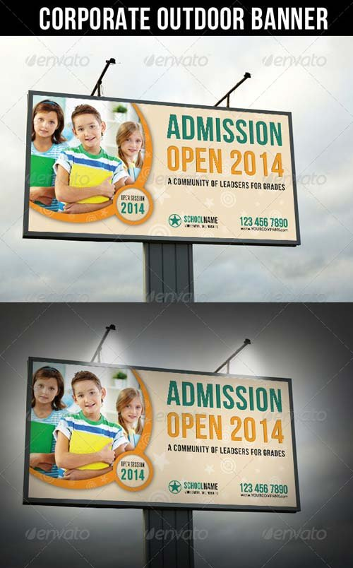 GraphicRiver Junior School Promotion Outdoor Banner 01