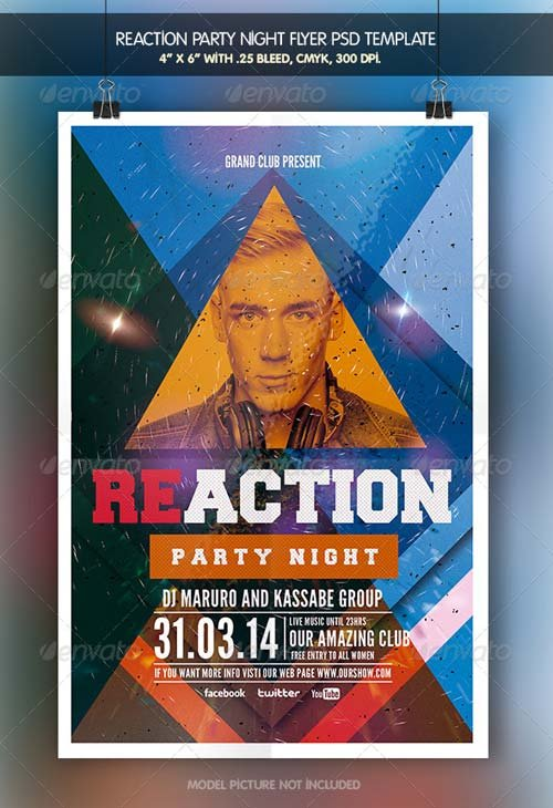 GraphicRiver Reaction Party | Flyer Template