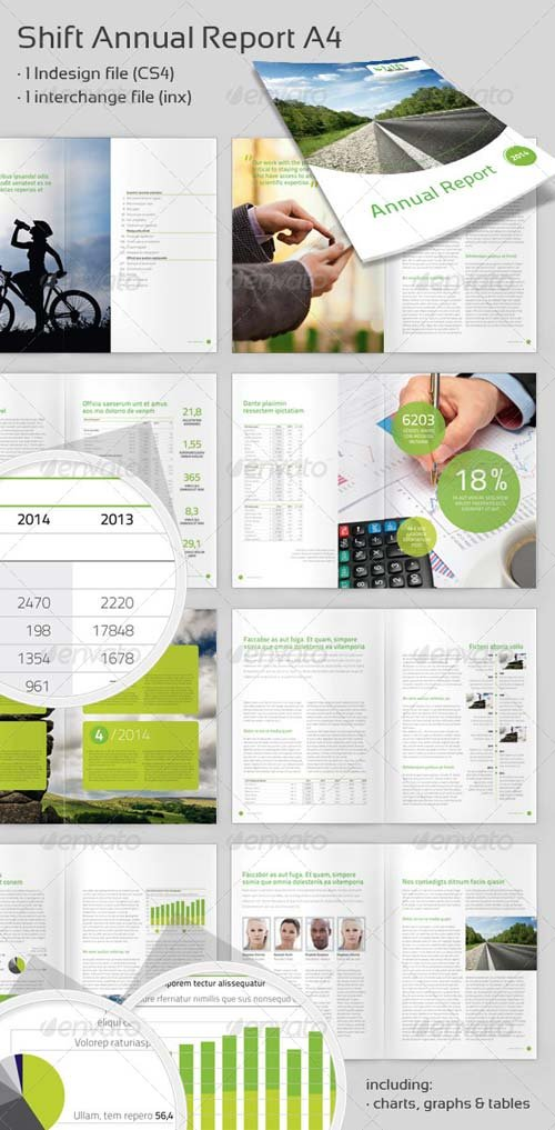 GraphicRiver Shift Annual Report A4