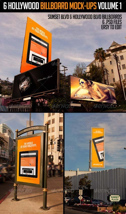 GraphicRiver 6 Hollywood Billboard Mock-Ups Volume 1