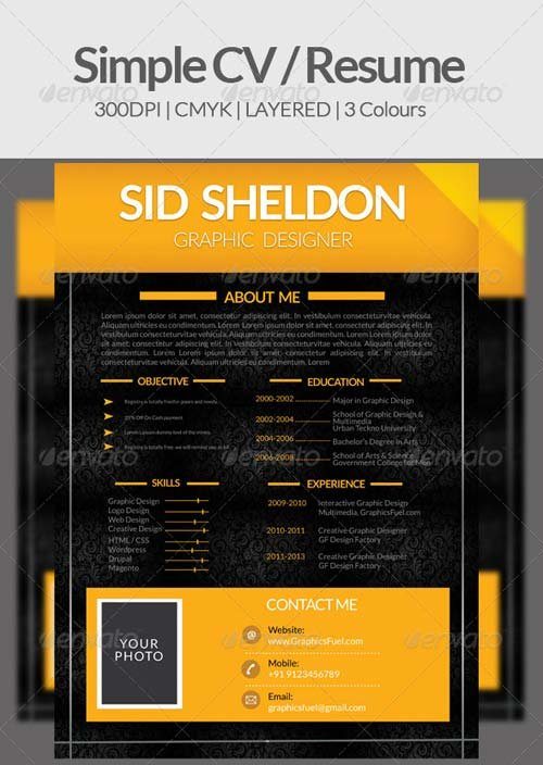 GraphicRiver Simple CV / Resume