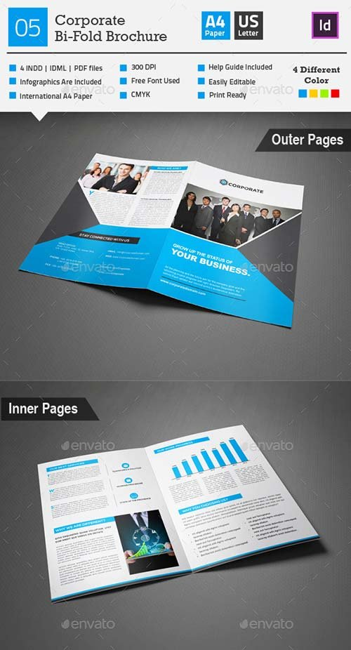 GraphicRiver Corporate Bi-fold Brochure 05