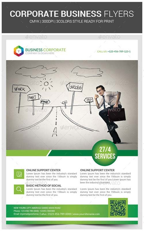 GraphicRiver Corporate Business Flyer Template